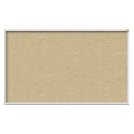 Ghent® 4' x 12' Aluminum Frame Vinyl Bulletin Board - Caramel