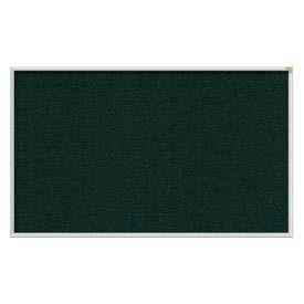 Ghent® 4' x 12' Aluminum Frame Vinyl Bulletin Board - Ebony