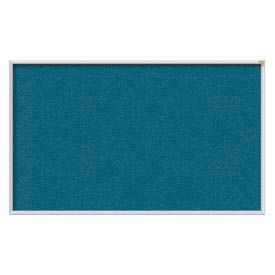 Ghent® 4' x 12' Aluminum Frame Vinyl Bulletin Board - Ocean