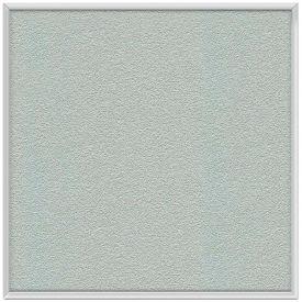 "Ghent® 48""W x 48""H Aluminum Frame Vinyl Bulletin Board - Silver"