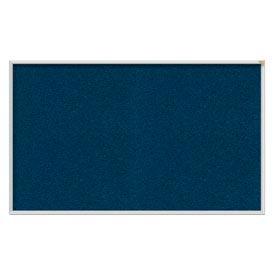 "Ghent® 48""W x 48""H Aluminum Frame Vinyl Bulletin Board - Navy"