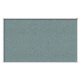 "Ghent® 60""W x 48""H Aluminum Frame Vinyl Bulletin Board - Stone"