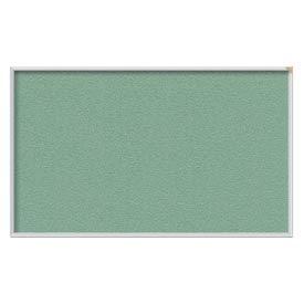 "Ghent® 72""W x 48""H Aluminum Frame Vinyl Bulletin Board - Mint"