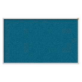"Ghent® 72""W x 48""H Aluminum Frame Vinyl Bulletin Board - Ocean"