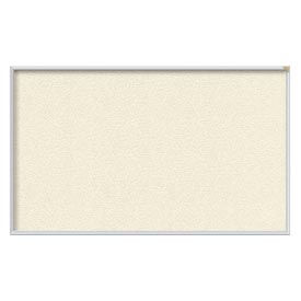 Ghent® 4' x 8' Aluminum Frame Vinyl Bulletin Board - Ivory