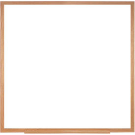 "Ghent 48""H x 48""H Whiteboard with Wood Frame - Porcelain - Includes Marker/Eraser - USA Made"