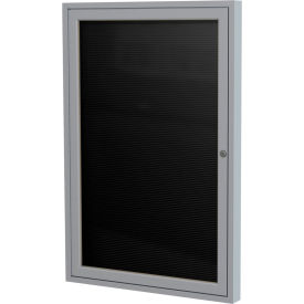 """Ghent® Indoor Enclosed Satin Letter Board - 36""""W x 36""""H"""