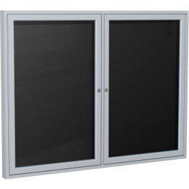 """Ghent® Outdoor Enclosed Satin Letter Board - 48""""W x 36""""H"""