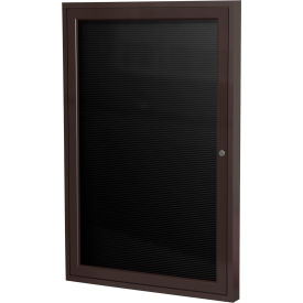 """Ghent® Outdoor Enclosed Bronze Letter Board - 18""""W x 24""""H"""