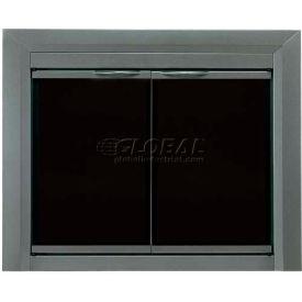 Pleasant Hearth Craton Fireplace Glass Door Gunmetal CR-3402 43-1/2