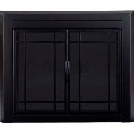 "Pleasant Hearth Easton Fireplace Glass Door Black EA-5011 37-1/2""L x 33""H"