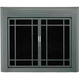 "Pleasant Hearth Edinburg Fireplace Glass Door Gunmetal ED-5410 37-1/2""L x 30""H"