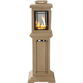 "Pleasant Hearth Lantern-Style Propane Fire Pit, OFG225T1, 40""H, 9000 BTU, Natural Stone Finish"