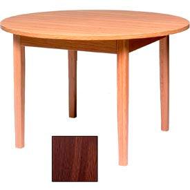 "Georgia Chair Round Laminate Top Child's Table 30""W X 30""D X 23""H, Walnut Finish"