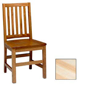 """Mission Chair, Vertical Slats 17-5/6""""W X 19""""D X 37""""H, Natural Finish"""