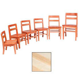 """Saddle Seat Chair 16""""W X 15-1/4""""D X 29""""H, Natural Finish"""