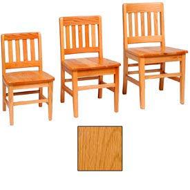 "Vertical Back Slat Classroom Chair 14-1/8""W X 13-1/4""D X 24""H, Provincial Finish"