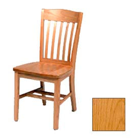 """Solid Oak Chair w/ Curved Vertical Slats 18-1/4""""W X 16-1/16""""D, Provincial Finish"""