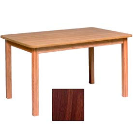 "Georgia Chair Laminate Top Juvenile Table 72""W X 30""D X 25""H, Walnut Finish"