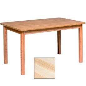 """Georgia Chair Laminate Top Juvenile Table 60""""W X 36""""D X 25""""H, Natural Finish"""