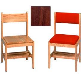 "Solid Oak Chair With Rack 16-3/4""W X 17-3/4""D X 34""H, Walnut Finish"