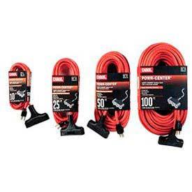 Carol 00594.63.04 2' Outdoor Powr-Center ® Extension Cord, 12awg 15a/125v - Orange - Pkg Qty 6