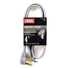 Carol 01004.63.01 4' Dryer Cord, 4#10awg 30a/250v - Black