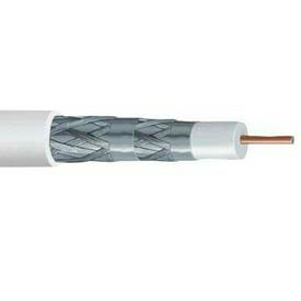 Carol C5785.18.01 RG6/U Coaxial Cable, Type CL2P Quad-Shield, 18 Ga. Solid, Black, 500Ft
