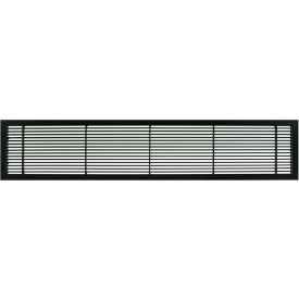 "AG10 Series 4"" x 8"" Solid Alum Fixed Bar Supply/Return Air Vent Grille, Black-Matte"