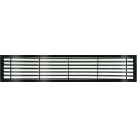 """AG10 Series 6"""" x 48"""" Solid Alum Fixed Bar Supply/Return Air Vent Grille, Black-Gloss"""