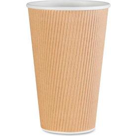 Genuine Joe GJO11257PK - Rippled Hot Cups, 16 Oz., 25/Pack, Brown