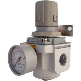 "PneumaticPlus SAR4000M-N06BG Air Pressure Regulator 3/4"" NPT with Gauge & Bracket"