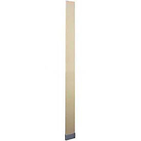 "ASI Global Partitions Steel Pilaster w/ Shoe - 3""W x 82""H Almond"