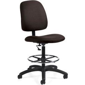 Global™ Goal - Drafting Chair - Asphalt (Black)