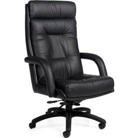 Global™ Executive Tilter Chair - Leather - High Back - Black -  Arturo Series