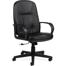 Global™ Office Tilter Chair - Leather - High Back - Black - Arno Series