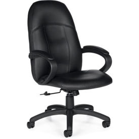Global™ Tamiri - High Back Tilter With Fixed Loop Arms - Black Upholstery