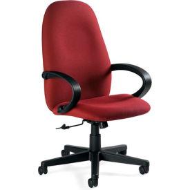 Global™ Enterprise - Tilter Office Chair - Fabric - High Back - Burgundy - Enterprise Series