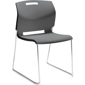 Delicieux Global™ Armless Stacking Chair   Plastic   Platinum Grey   Popcorn Series
