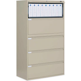 "Global 9300 Series 42""W 5 Drawer Binder Lateral File Putty by"