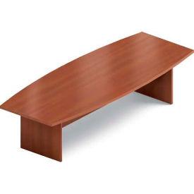 Global™ 10' Boardroom Table - Boat Shaped - Laminate - Avant Honey