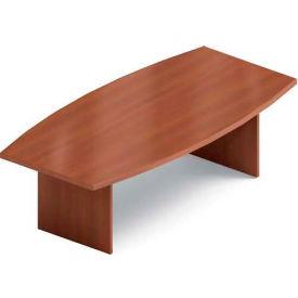 Global™ 8' Boardroom Table - Boat Shaped - Laminate - Avant Honey
