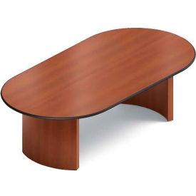 Global™ 8' Boardroom Table - Racetrack - Laminate - Avant Honey