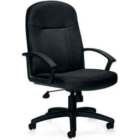 Global™ Offices To Go Luxhide Bonded Leather Managers Chair Black