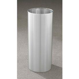Glaro 14 Gallon Open Top Wastebasket, Satin Aluminum New Yorker Collection - 1229-SA