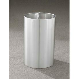 Glaro 18 Gallon Open Top Wastebasket, Satin Aluminum New Yorker Collection - 1523-SA