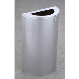 Glaro 14 Gallon Half Round Waste Receptacle, Desert Stone - 1891-DS-DS