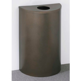 Glaro 14 Gallon Half Round Bottles/Cans Waste Receptacle, Satin Black - 1892-BK-BK