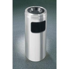 Glaro 10 Gallon Ash/Trash Receptacle w/Sand Cover, Satin Aluminum - C1531SA
