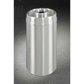Glaro 33 Gallon Ash/Trash Receptacle w/Donut Top, Satin Aluminum - D2035SA